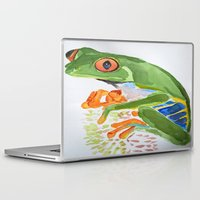 frog Laptop & iPad Skins featuring Frog by The Traveling Catburys