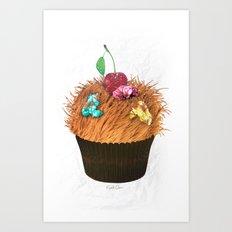 Hairy Cupcake Art Print