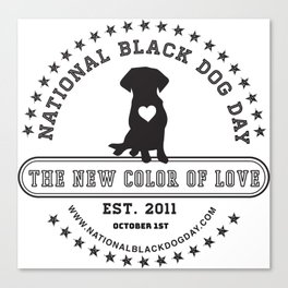 Black Dog Day Official Logo Canvas Print