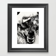 Canis lupus Framed Art Print