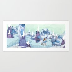 The Monstrous Mountains Art Print