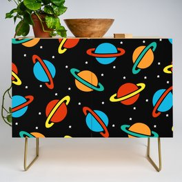Space Planets Pattern Credenza