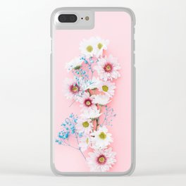 Sprig Flowers Clear iPhone Case