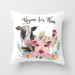 Vegan for Them Throw Pillow