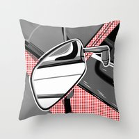 audi Throw Pillows featuring Rearview Mirror by Paco Dozier