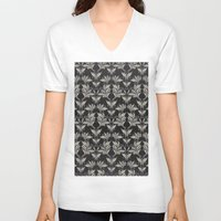 floral pattern V-neck T-shirts featuring Floral Pattern by Robin Curtiss