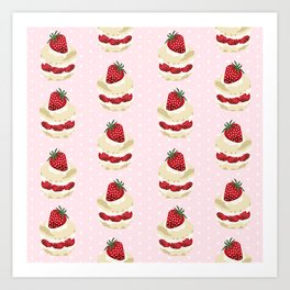 Fruit Shortcake dessert food apparel and gifts food fight Art Print