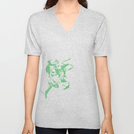 Follow the Green Herd #778 Unisex V-Neck