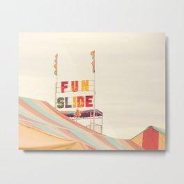 Fun Slide Metal Print