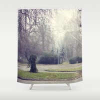 budapest Shower Curtains featuring budapest park by funfunfunfunfu