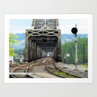 "Northbound Amtrak ""Coast Starlight"" at Vancouver, WA Art Print"