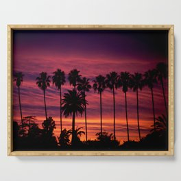 Sunset over Hollywood Serving Tray