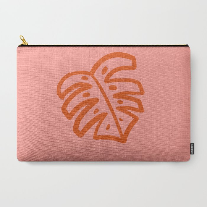 Monstera Leaf Line Drawing Carry-All Pouch