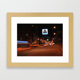 See It Go -- Boston Night.  Kenmore Square Framed Art Print