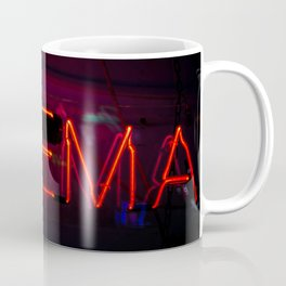 Neon Cinema Sign Coffee Mug