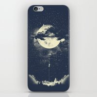 portrait iPhone & iPod Skins featuring MOON CLIMBING by los tomatos