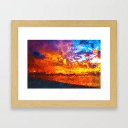 Beach Sunset I Framed Art Print