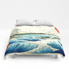 The Great Wave. The Sea At Satta Comforters