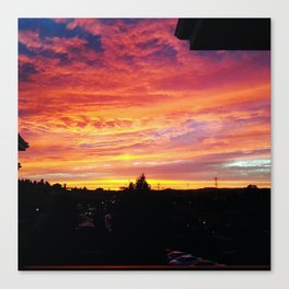 Sunset in Napa Canvas Print