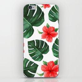 Tropical print iPhone Skin