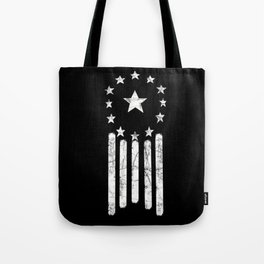 Black And White Old World American Flag Tote Bag