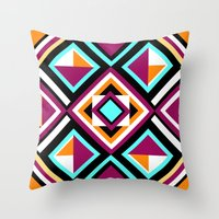 quilt Throw Pillows featuring Quilt Pattern by k_c_s