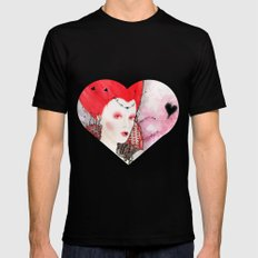 The Queen of Hearts Mens Fitted Tee Black MEDIUM