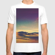 Isaac. White MEDIUM Mens Fitted Tee