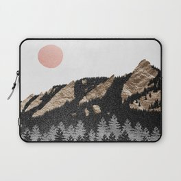 Flatirons Boulder Colorado - Climbing Gold Mountains Laptop Sleeve