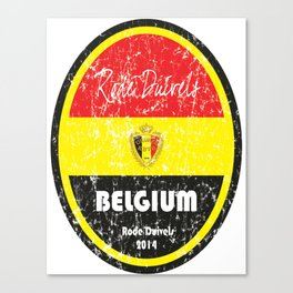 World Cup Football - Belgium (Distressed) Canvas Print