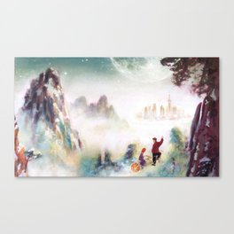 Snowy mountains of Asia Canvas Print