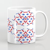 patriotic Mugs featuring Patriotic by Robin Curtiss