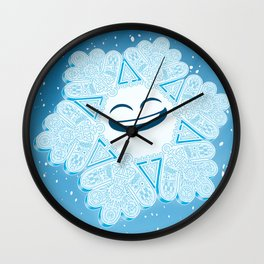 Proud Snowflake Wall Clock