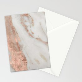 Marble Rose Gold Shimmery Marble Stationery Cards