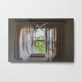 Living Room Window, Abandoned Farm House, North Dakota 1 Metal Print