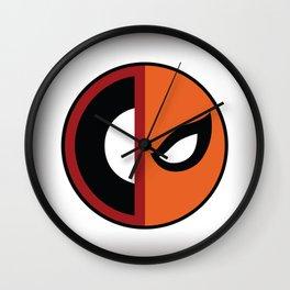 Wilson VS Wilson (Deadpool Deathstroke) Wall Clock