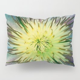 Aqua-Blue Flower With Lilac Accents Pillow Sham
