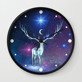 Reindeer Lost In Space Wall Clock