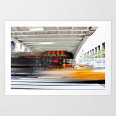 New York Grand Central Cafe Art Print