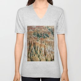 stone usa bryce canyon utah national park Unisex V-Neck