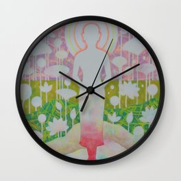 Peace of mind is liberated. Wall Clock
