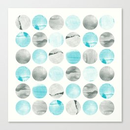 Graphic circles with texture Canvas Print