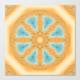 Sea Beach Summer Kaleidoscope Abstract Pattern Canvas Print