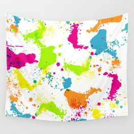 colorful paint blots Wall Tapestry