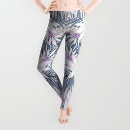 Denim Blooms Forever Leggings
