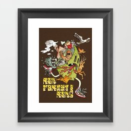 Run Forest Run ! Framed Art Print