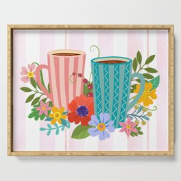 Don't Bring Me Flowers, Bring Me Coffee Serving Tray