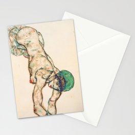 """Egon Schiele """"Frauenakt mit grüner Haube"""" Stationery Cards"""