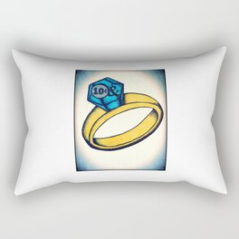 Diamond Ring Rectangular Pillow