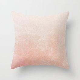 Peachy Ombre Throw Pillow